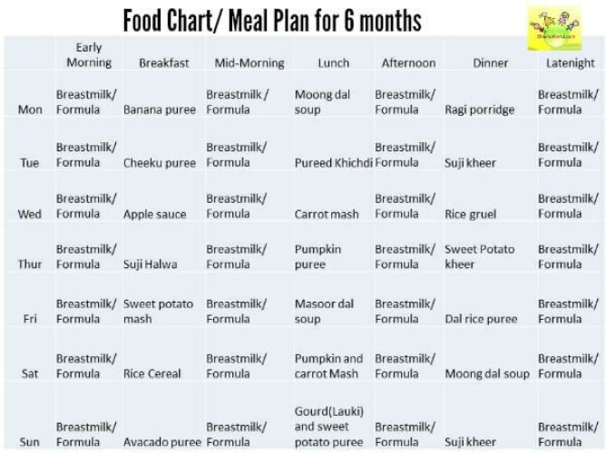 7 Month Old Baby Eating Plan Care