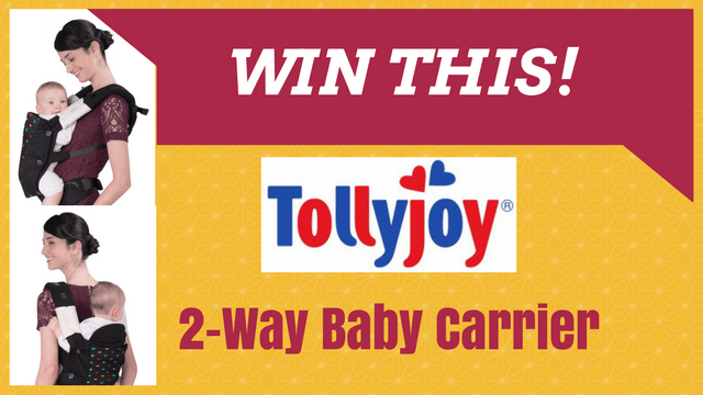 WIN THIS! Tollyjoy 2-Way Baby Carrier