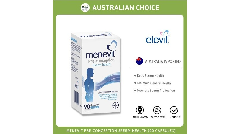 Australia Elevit Menevit Men's Fertility Improve Pregnancy 90 Capsules Elevit
