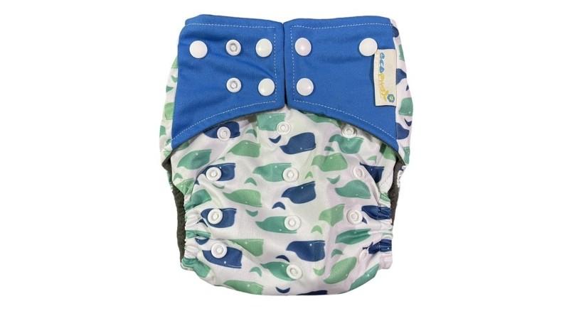 Ecopwet Square Charcoal Cloth Diaper