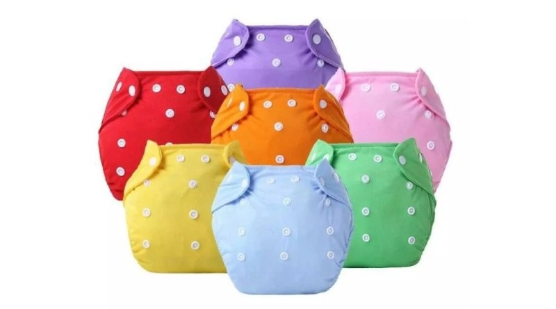 Washable Baby Cloth Adjustable Diapers